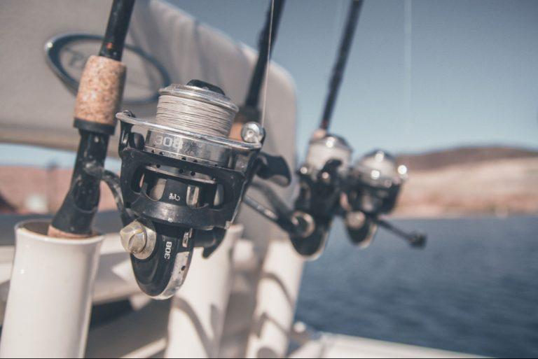 Row of Fishing Reels