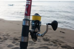 Spinning Rod on a Beach