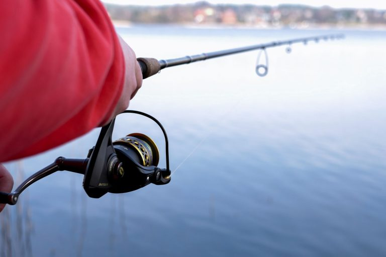 Fisherman Using a Spinning Reel