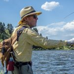 Fisherman Casting a Fly Fishing Line