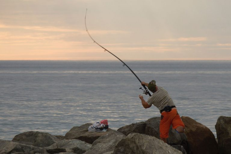 Fisherman Casting a Line