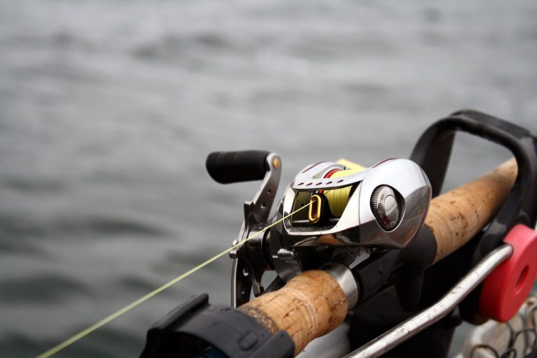 Close Up Image of a Baitcast Reel
