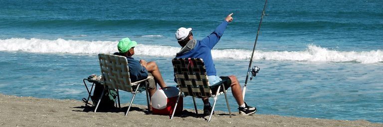 Men Surf Fishing at the Beach Featured Image