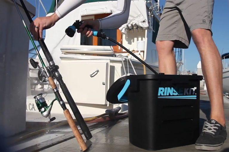 Washing Fishing Equipment with RinseKit