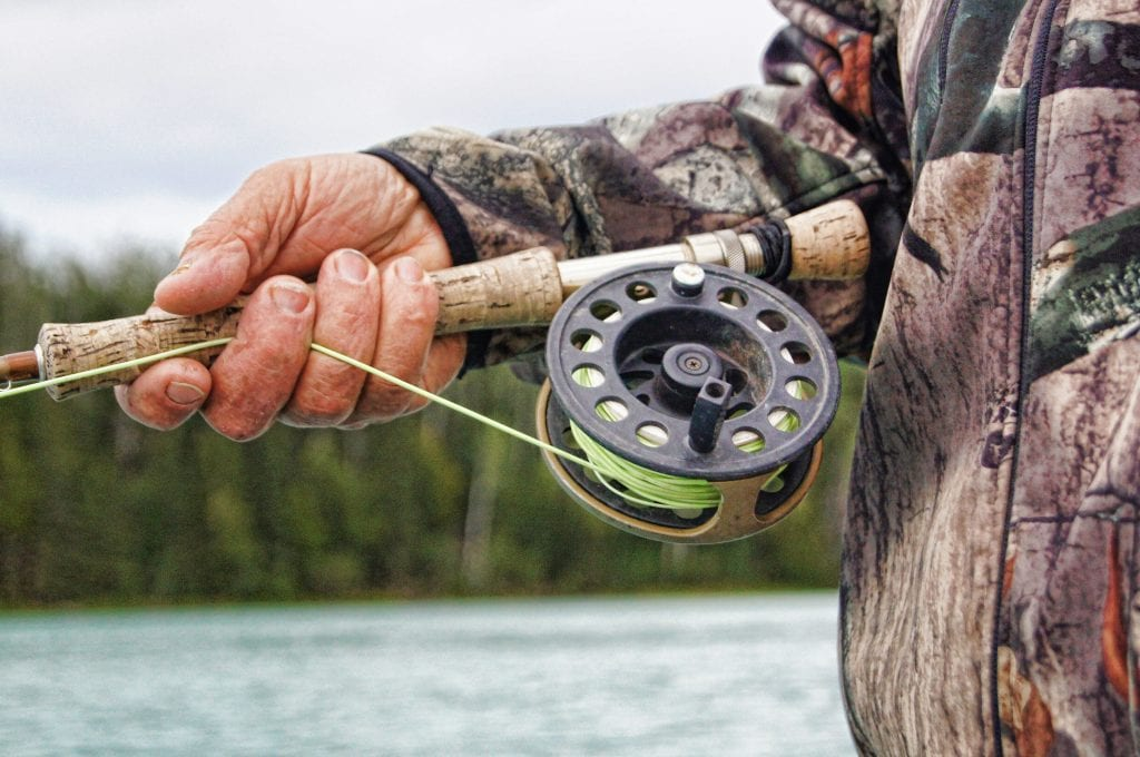 Person Holding a Fly Rod