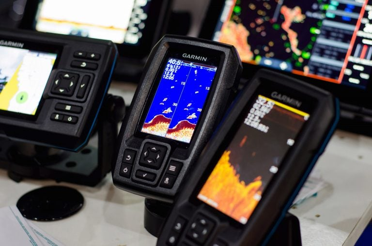 Close up of Assorted Garmin Fish Finders