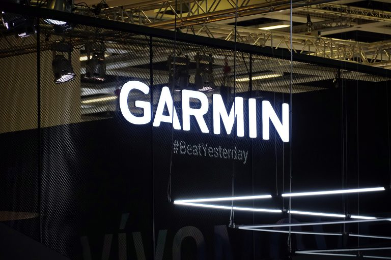 Garmin Logo at a Nautical Expo