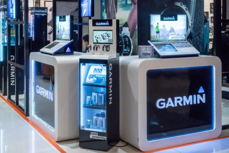 Garmin Product Stall in a Mall