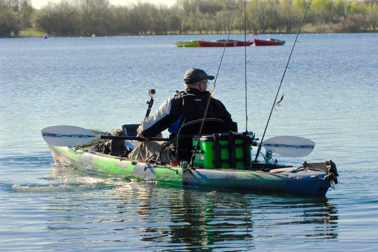 Kayak Fishing at a Lake