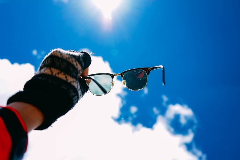 Sun Shining Bright Through Glasses