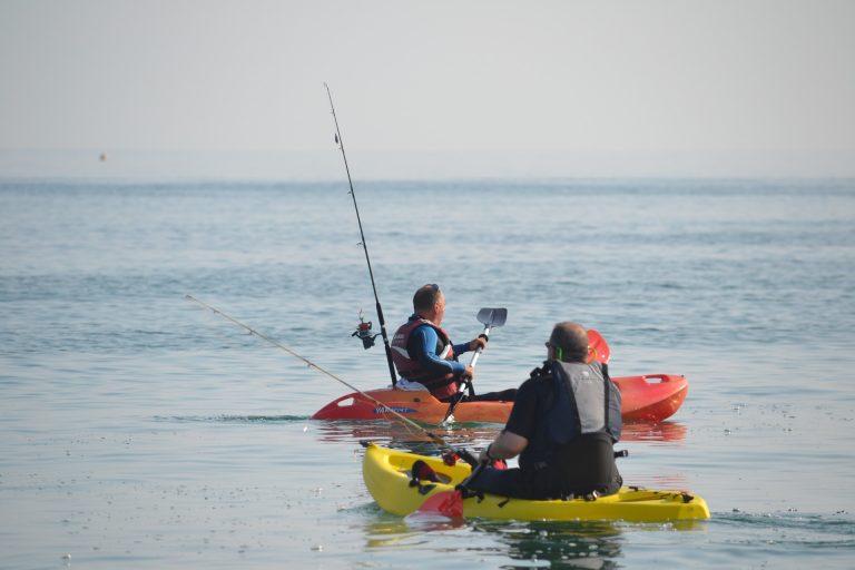 Two Men Kayak Fishing