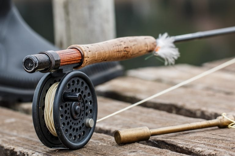 Fly Rod Placed on a Dock