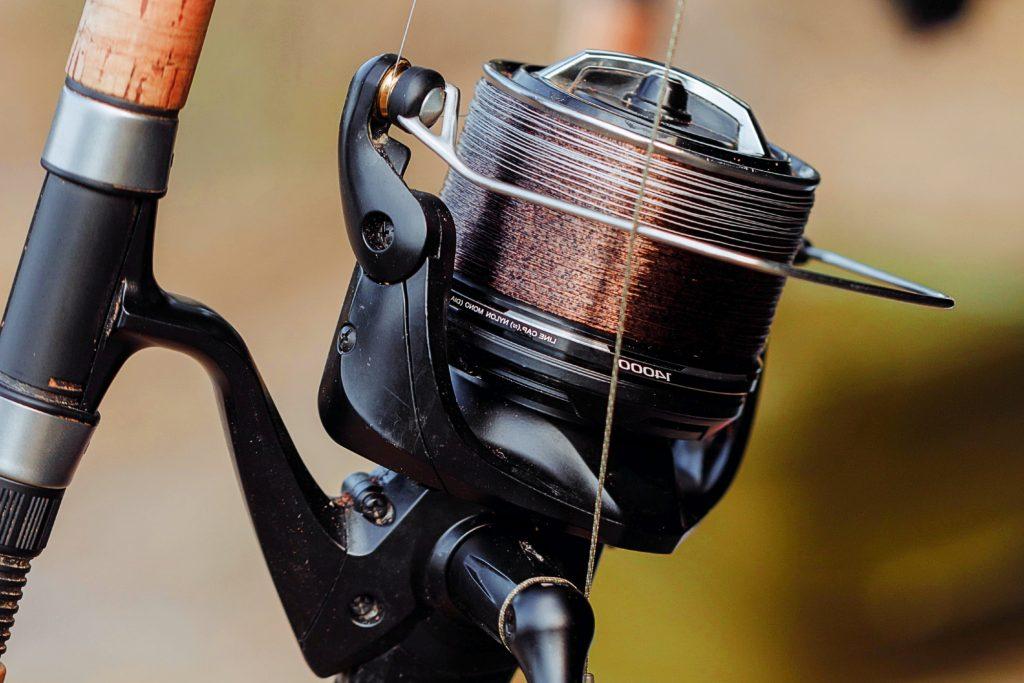 Black Fishing Reel