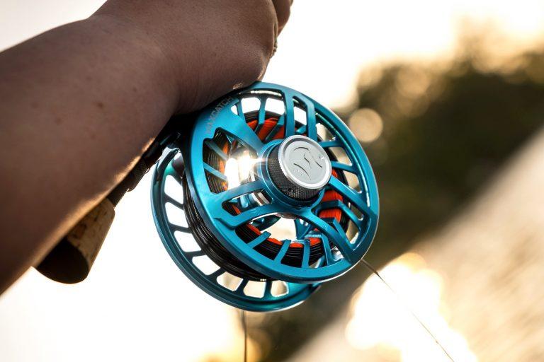 Blue Fly Reel Closeup