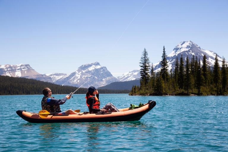 Couple on a Fishing Kayak