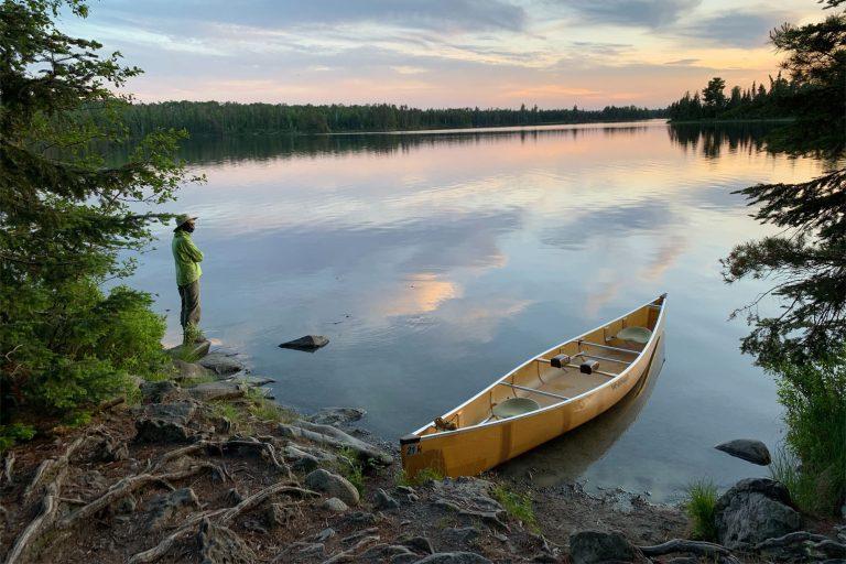 Canoe at a Lakeside